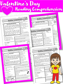 Valentine's Day Reading Passages (Text Evidence)
