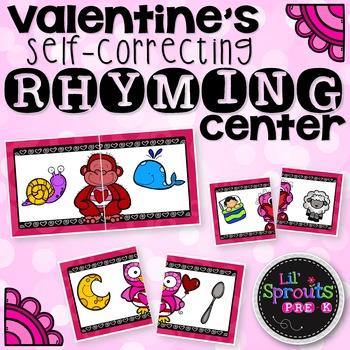 Valentine's Rhyming Center - PreK, Kindergarten, Preschool