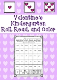Valentine's Kindergarten Roll, Read, and Color