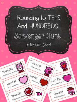 Valentine's Rounding Scavenger Hunt