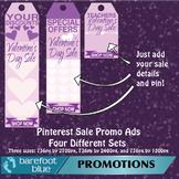 Valentine's Sales Ads for Pinterest (purple) - just add your sale details