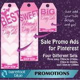 Valentine's Sales Ads for Pinterest (pink) - just add your sale details
