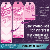 Valentine's Sales Ads for Pinterest (pink) - just add your