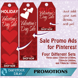 Valentine's Sales Ads for Pinterest (red) - just add your
