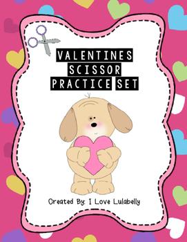 Valentine's Scissor Practice Set