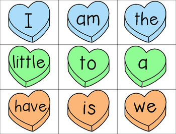 Valentine's See and Stamp Center (Sight Words)