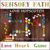 Valentine's Sensory path, Love floor or wall decals, Printable motor game