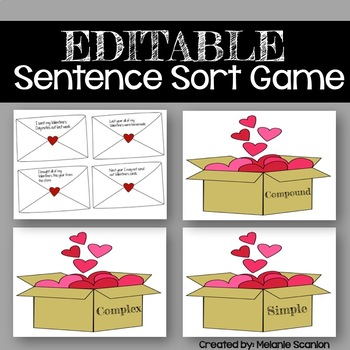 Valentine's Day Sentence Activity