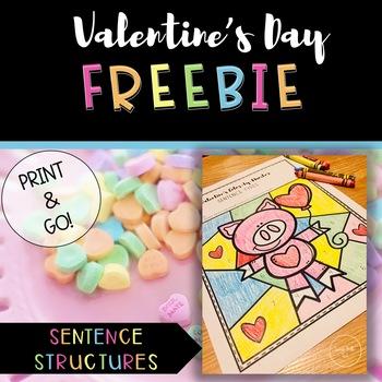 Valentine's Sentence Structure Activity FREEBIE