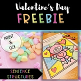 Valentine's Sentence Structure Activity FREEBIE