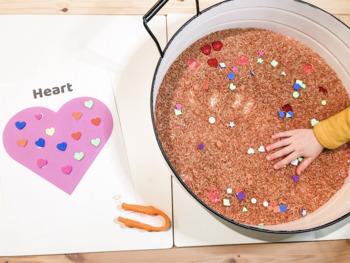 Valentine's Shape Sort