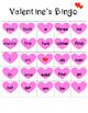Valentine's Sight Word Bingo
