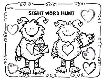 Valentine's Sight Word Hunt