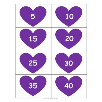 Valentine's Skip Counting (2's, 5's, & 10's) Math Center