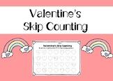 Valentine's Skip Counting Worksheets