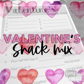 Valentine's Snack Mix Activity FREEBIE