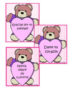 Valentine's Spanish Card Messages