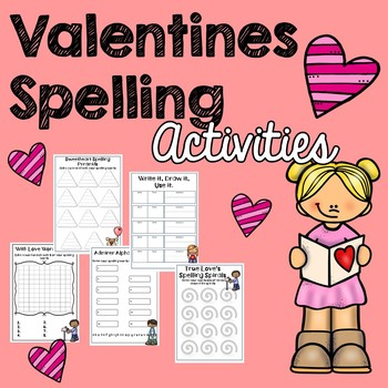 20 Valentine's Spelling Activities for any List