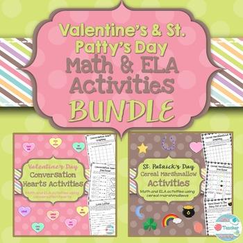Valentine's St. Patrick's Day BUNDLE Math and ELA