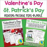 Valentine's & St. Patrick's Day Leveled Reading Passage Mi