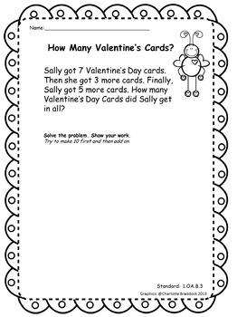 Valentine's Math Story Problem