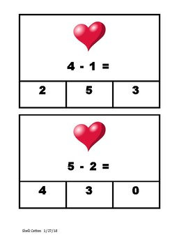 Valentine's Subtract and Clip