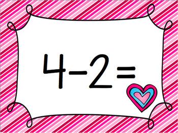 Valentine's Subtraction Fact Fluency