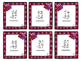 Valentine's Subtraction with Regrouping Scoot