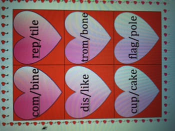 Valentine's Syllable Division Closed and Magic e VC/CV Pattern: OG and Wilson