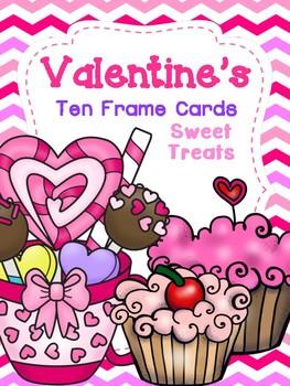 Valentine's Ten Frame Cards: Sweet Treats