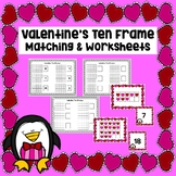 Valentine's Ten Frames Matching & Worksheets (Counting 1-20)