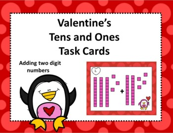 Valentine's Tens and Ones Task Cards BUNDLE