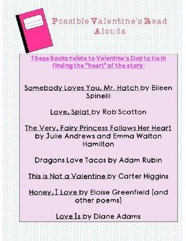 Valentine's Theme Activity for any Book