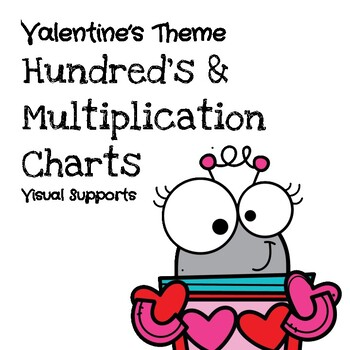 (Dollar Deal) Valentine's Theme Hundred's & Multiplication Charts