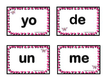 Valentine's Theme Spanish Sight Words