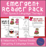 Valentine's Themed Emergent Reader Pack for Speech Therapy