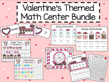 Valentine's Themed Math Center Bundle
