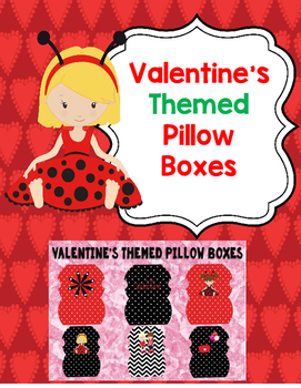 Valentine's Themed Pillow Boxes