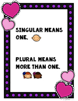 Valentine's Themed Plurals Posters