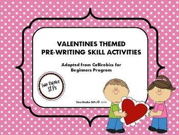 Valentine's Themed Pre-Writing (Callirobics) Activities