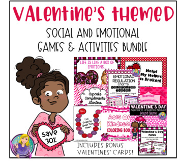 Valentine's Themed Social and Emotional Games and Activities (save 30%)