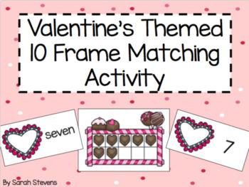 Valentine's Themed Ten Frame Matching Activity