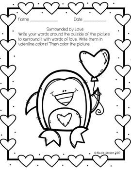 Valentine's Themed Word Work