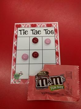 Valentine's Tic Tac Toe board - Freebie!