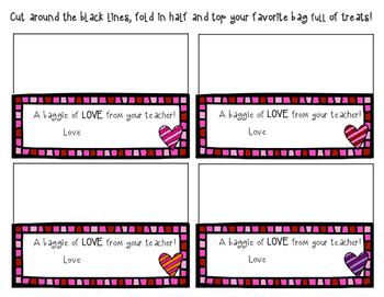 Valentine's Treat Bag Tags