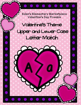 Valentine's Upper and Lower Case Letter Match