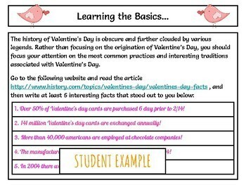 Valentine's Webquest - Using Google Slides - NO PREP