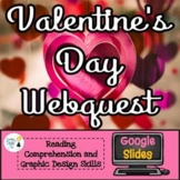 Valentine's Webquest - Using Google Slides - NO PREP