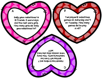Valentine's Word Problem Scoot