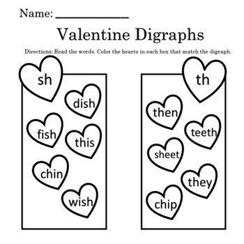 Valentine's Worksheets 2nd Grade
